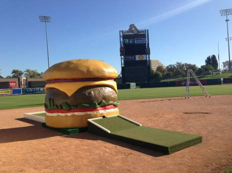 Giant Burger Miniature Putt Putt Golf Hole